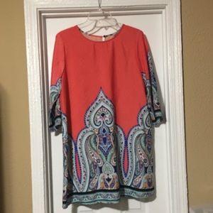 Glam Tunic/ Dress  coral / orange
